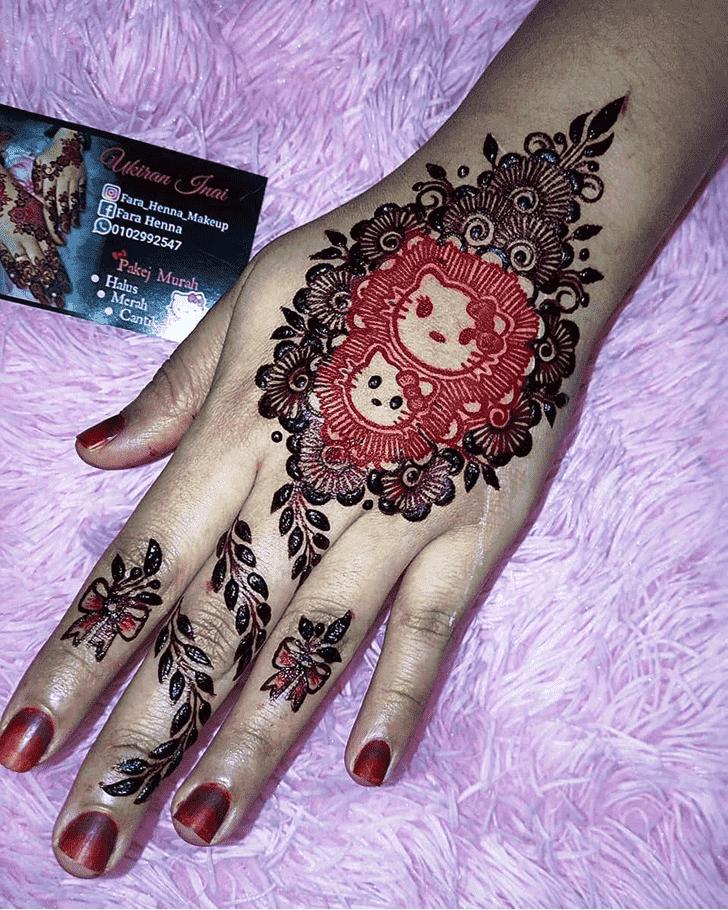 Alluring Bollywood Henna design