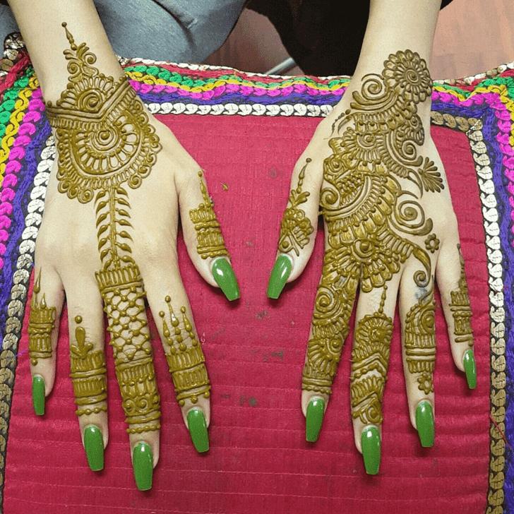 Appealing Bombay Style Henna Design
