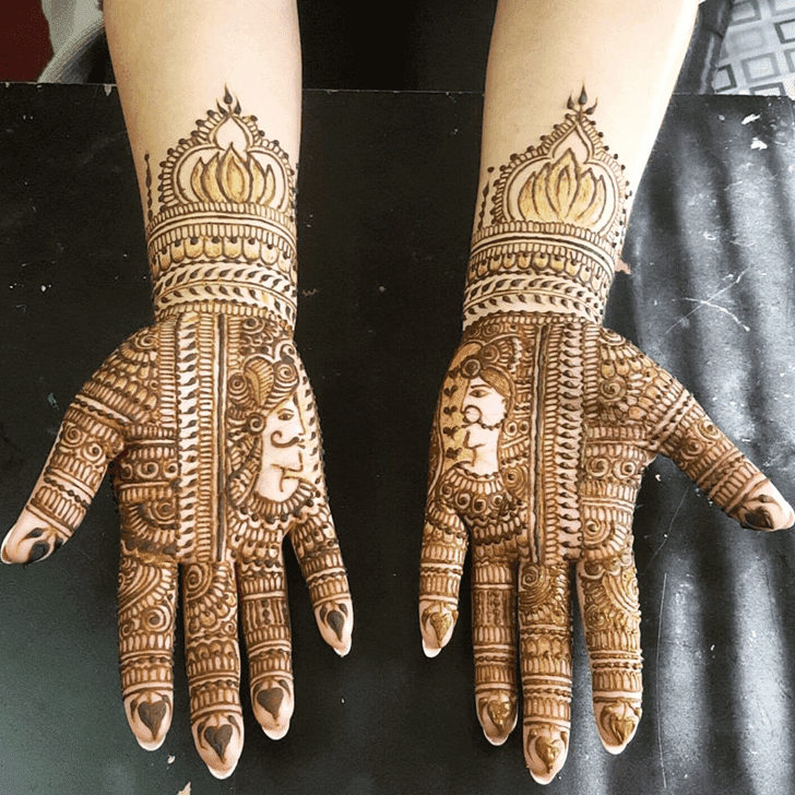 Bewitching Bombay Style Henna Design