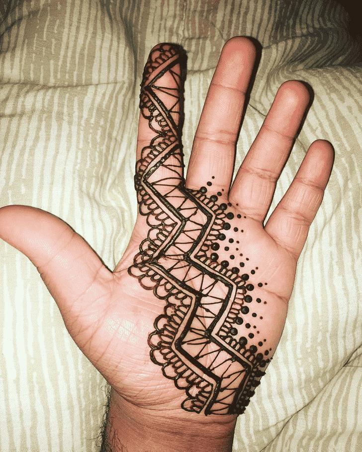 Captivating Boys Henna Design