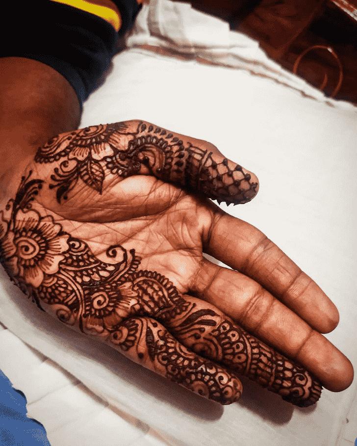 Classy Bridal Henna Design