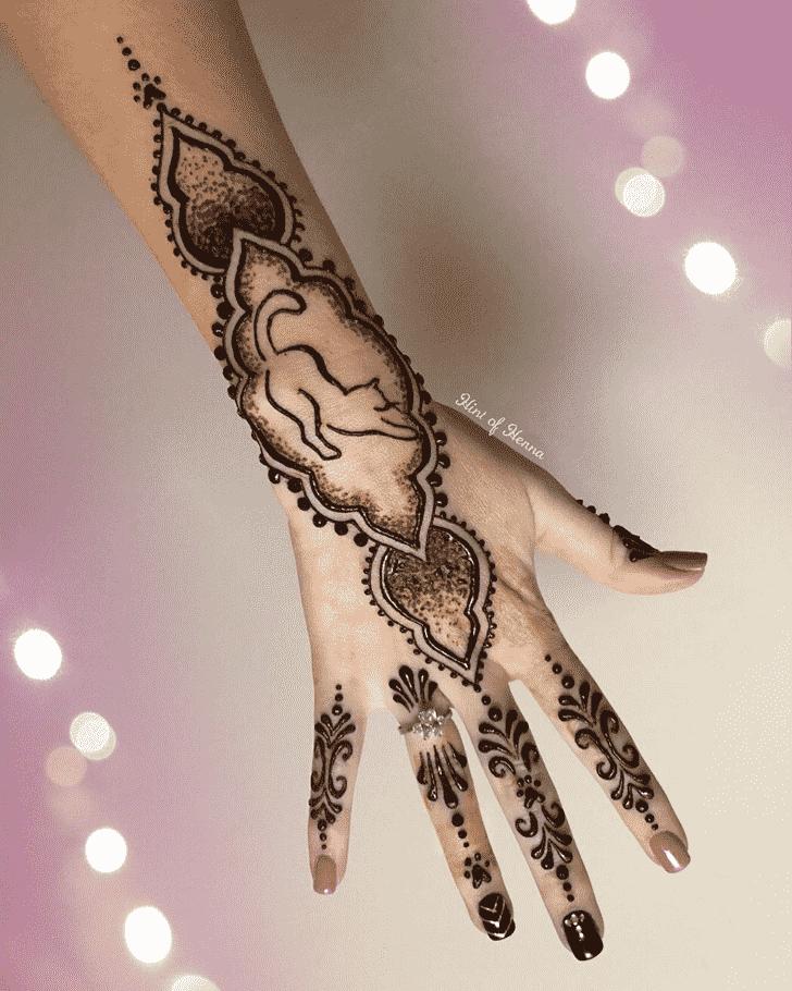 Angelic Cat Henna Design