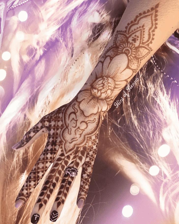 Appealing Cat Henna Design
