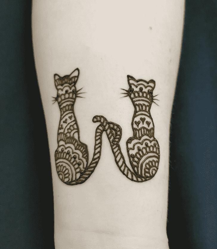 Fair Cat Henna Design