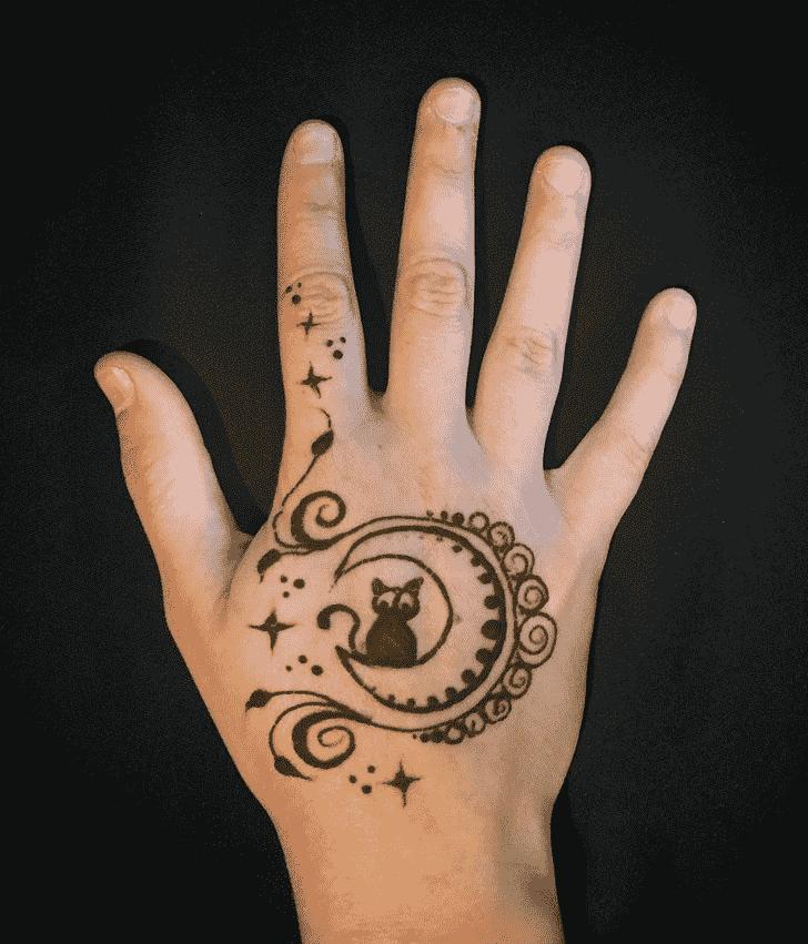 Grand Cat Henna Design
