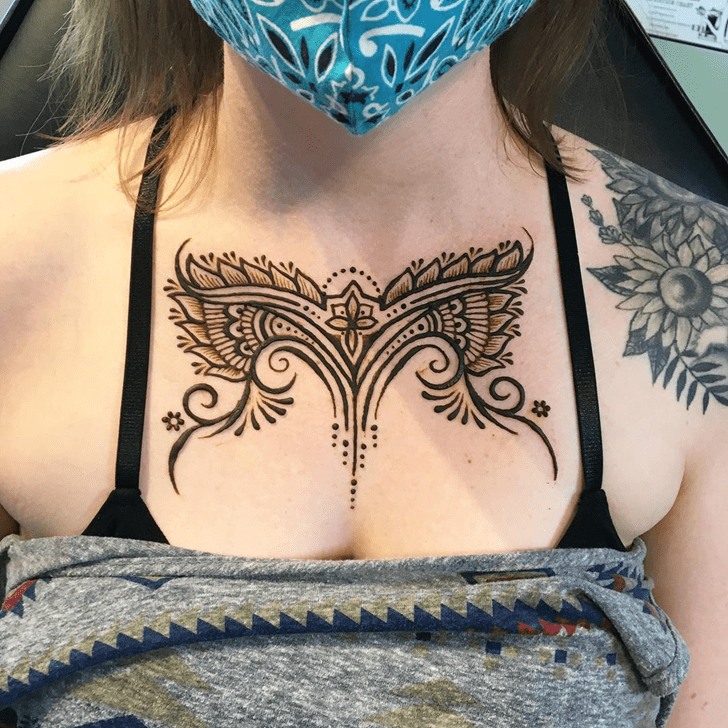 Grand Chest Henna Design