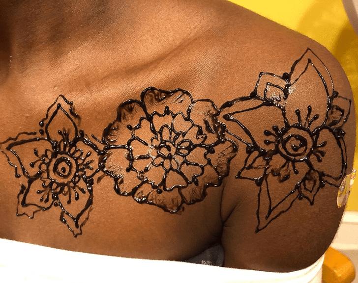 Handsome Chest Henna Design