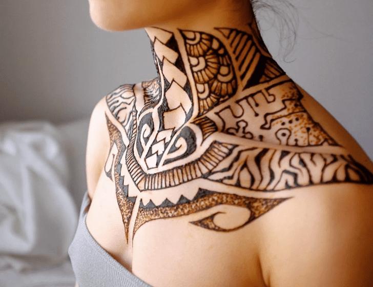 Lovely Chest Henna Design
