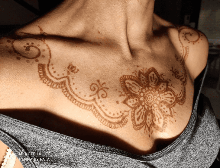Ravishing Chest Henna Design