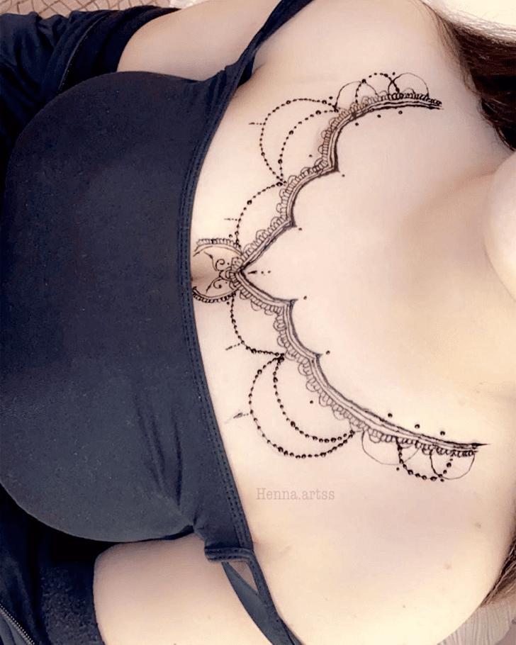 Shapely Chest Henna Design
