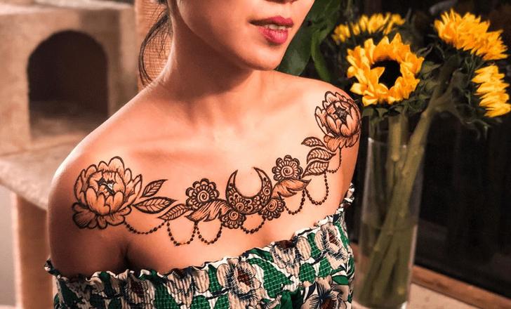 Sightly Chest Henna Design