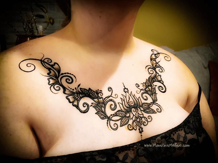 Stunning Chest Henna Design