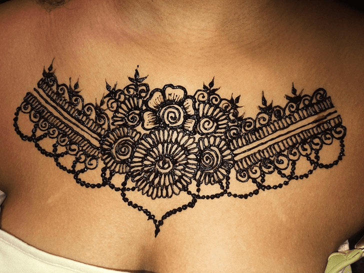 Sublime Chest Henna Design