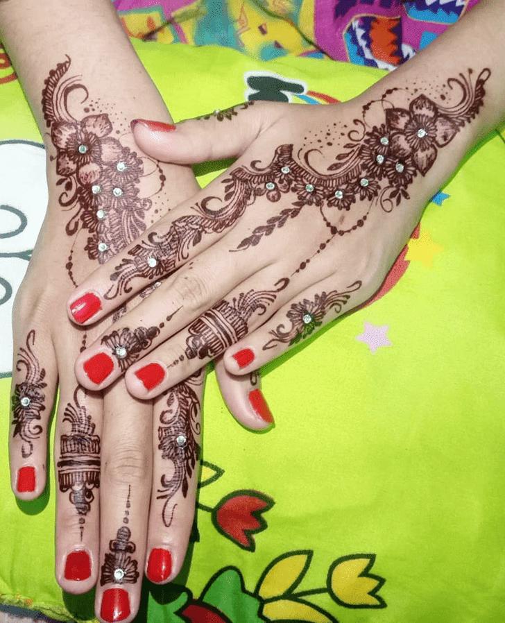 Angelic Chhath Puja Henna Design