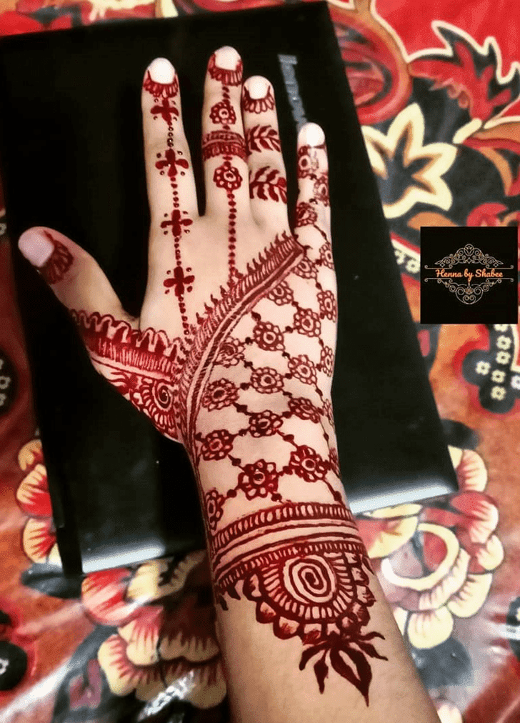 Mesmeric Chhath Puja Henna Design