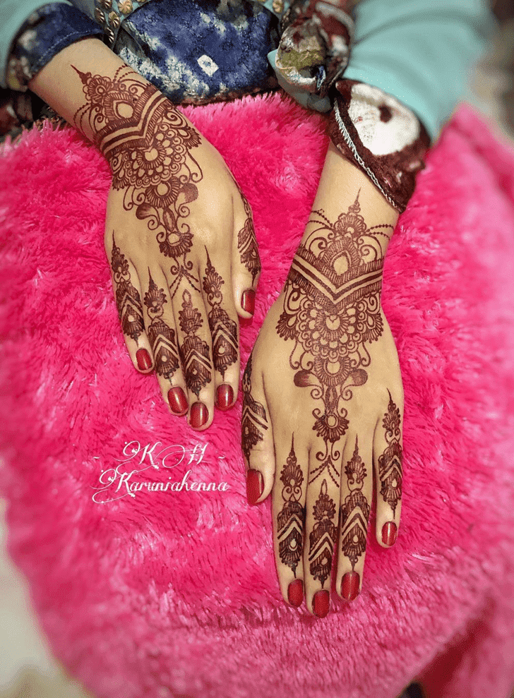 Nice Chhath Puja Henna Design