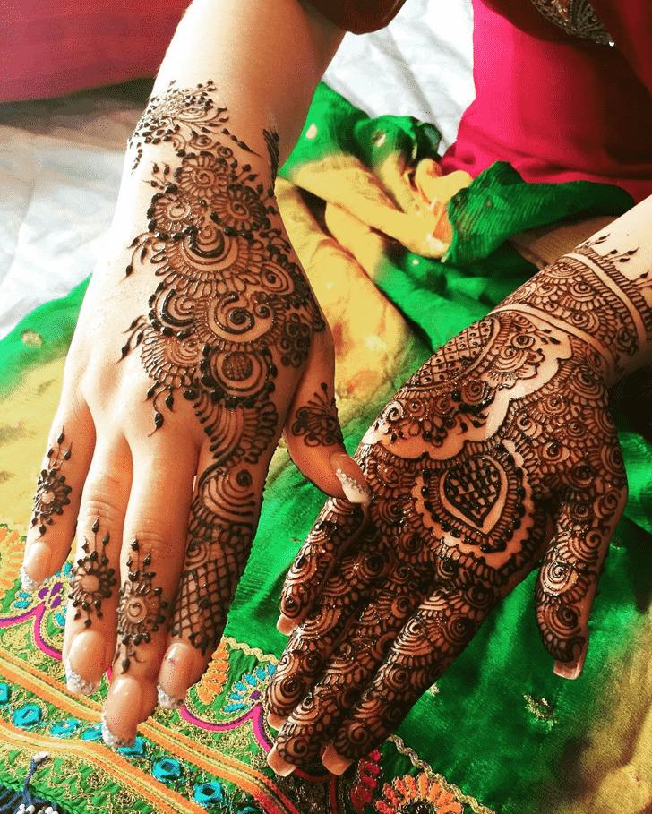 Arm Coimbatore Henna Design