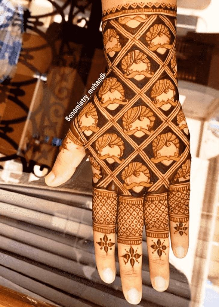 Pretty Coimbatore Henna Design
