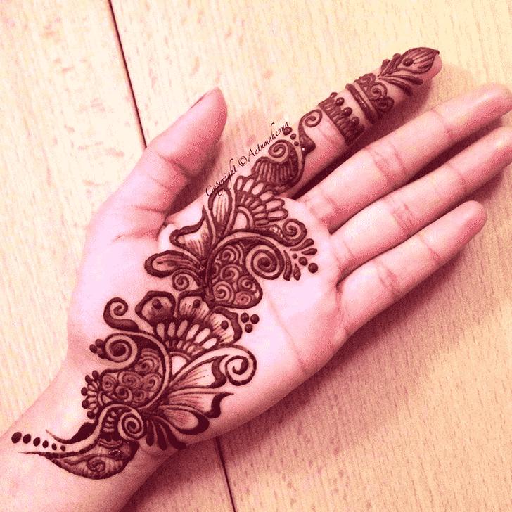 Admirable Coloured Mehndi Design