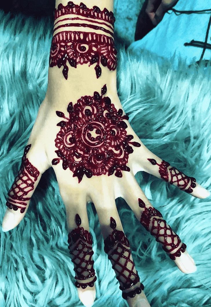 Alluring Coloured Henna Design
