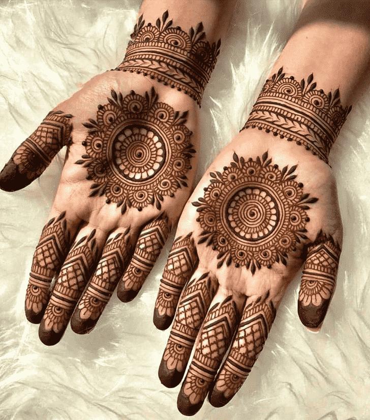 Appealing Coloured Henna Design