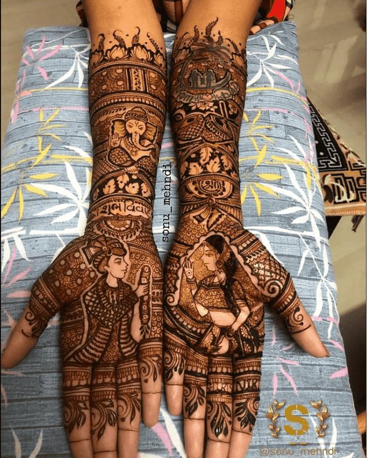 Radiant Comilla Henna Design
