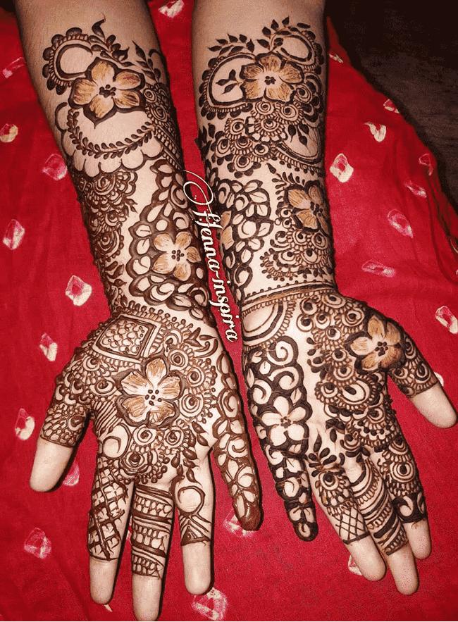 Classy Darjeeling Henna Design