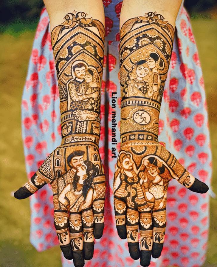 Classy Desi Henna Design