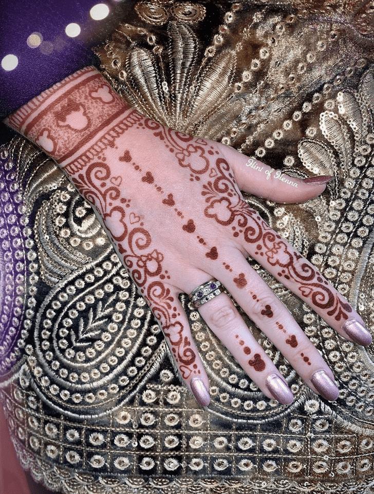 Alluring Disney Henna Design