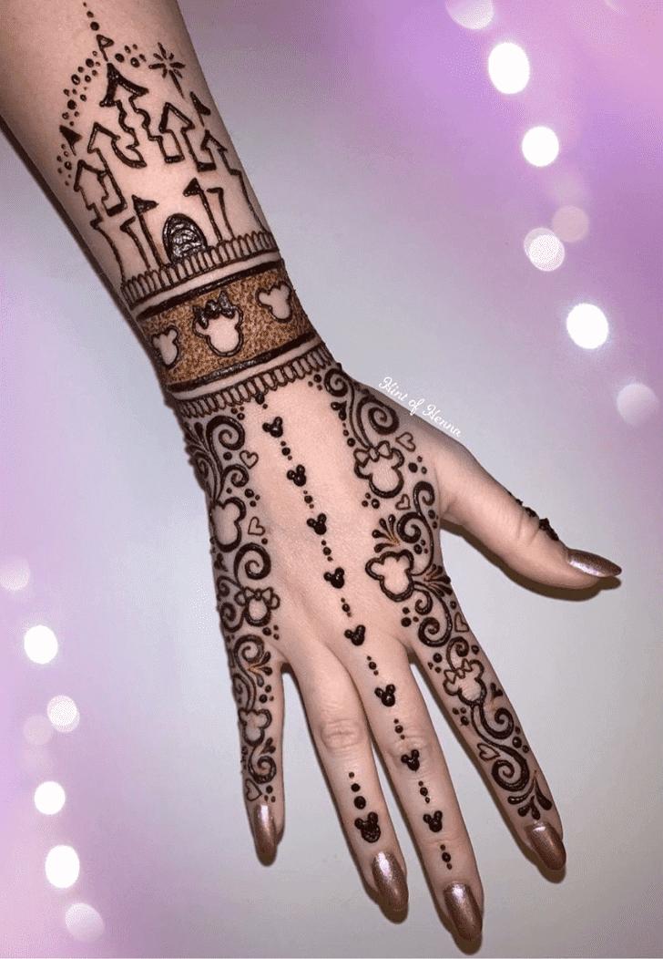 Angelic Disney Henna Design