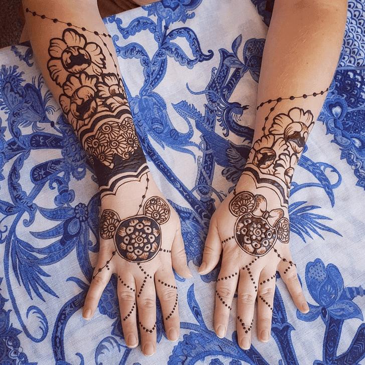 Bewitching Disney Henna Design