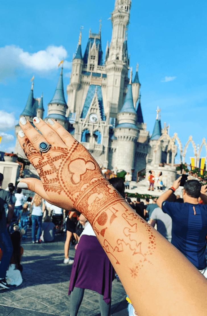 Charming Disney Henna Design