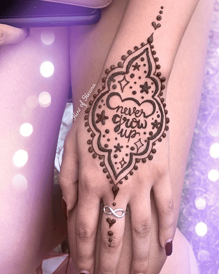 Classy Disney Henna Design