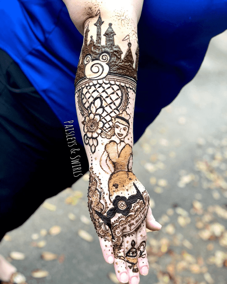 Pleasing Disney Henna Design