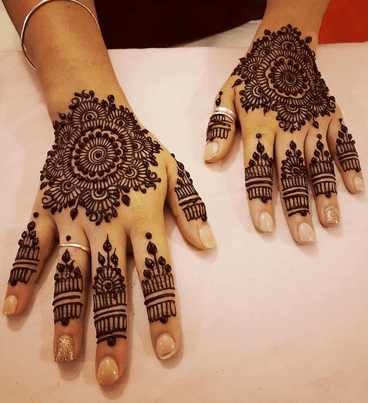 Classy Divine Henna design