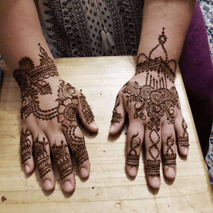 Angelic Diwali Henna Design