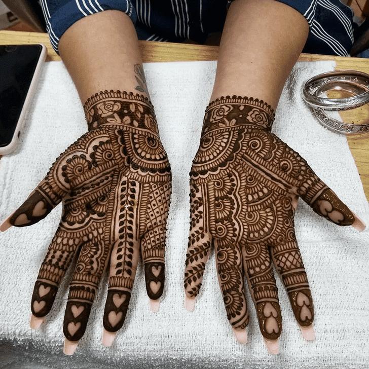 Beauteous Diwali Henna Design