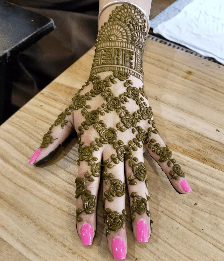 Comely Diwali Henna Design