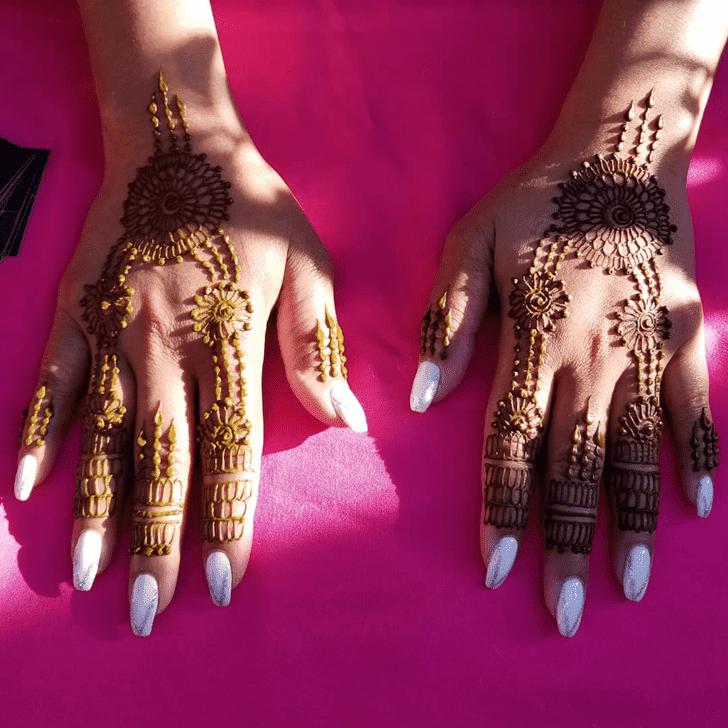 Cute Diwali Henna Design
