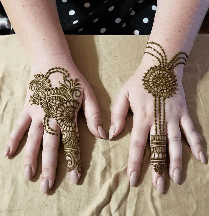 Dazzling Diwali Mehndi Design