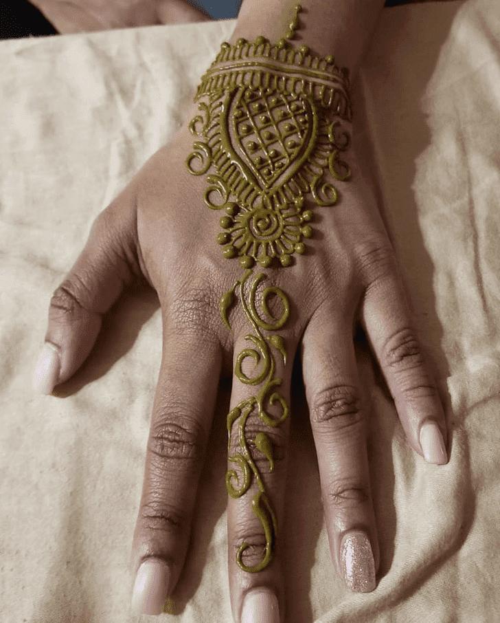 Divine Diwali Henna Design