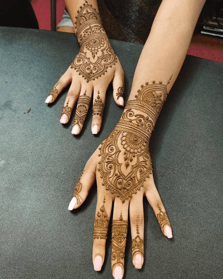 Fine Looking Diwali Henna Design