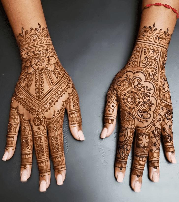 Symmetrical Diwali Henna Design