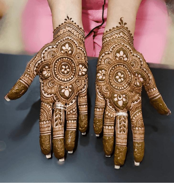 Breath Taking Diwali Henna Design