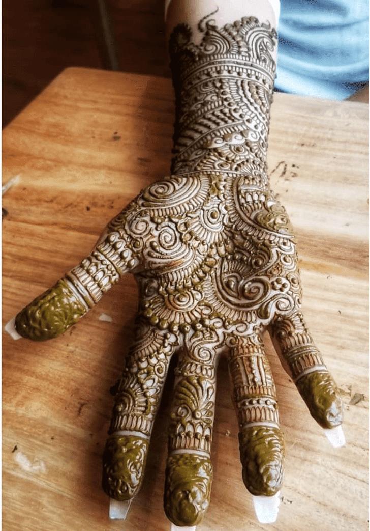 Adorable Diwali Henna Design