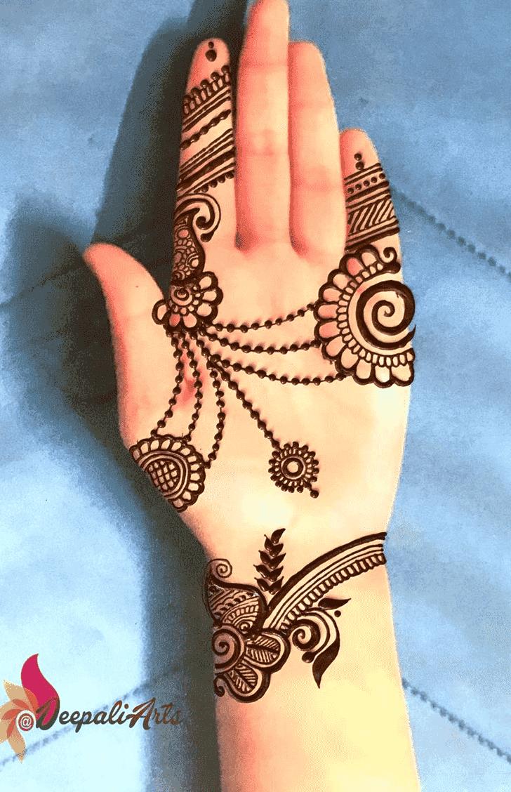 Beauteous Dot Henna Design