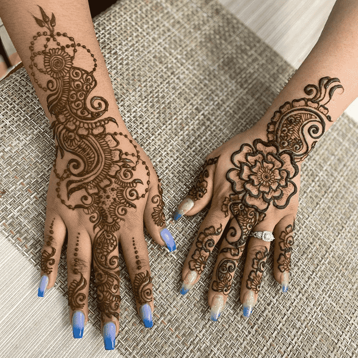 Inviting Dulhan Henna Design