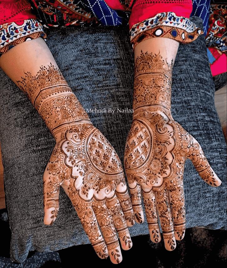 Radiant Dulhan Henna Design