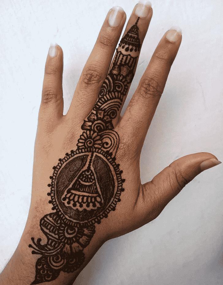 Alluring Earrings Henna Design
