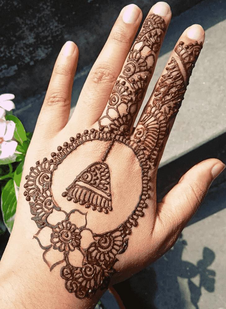 Angelic Earrings Henna Design